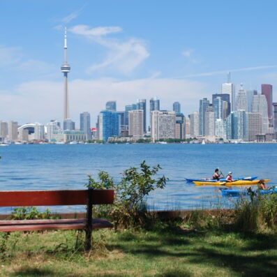 Picture of Toronto in the Summer overlooking the lake.